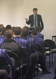 Dean Spanner addressing students