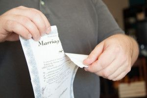 ripping up marriage certificate