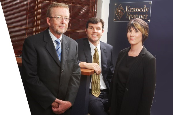 Dean Spanner, Amanda Schmidt, and Malcolm Kennedy from Kennedy spanner lawyers